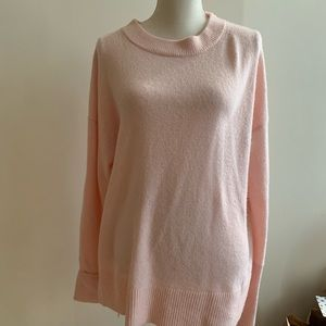 Pink Lou and grey sweater small